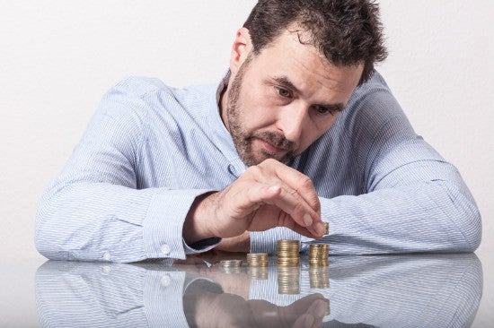 Guy Counting Money
