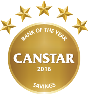CANSTAR 2016 Bank of the Year Savings Award logo