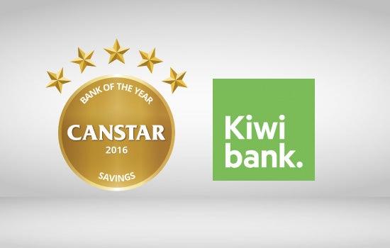 Kiwibank wins Canstar 2016 Bank of the Year Savings Award