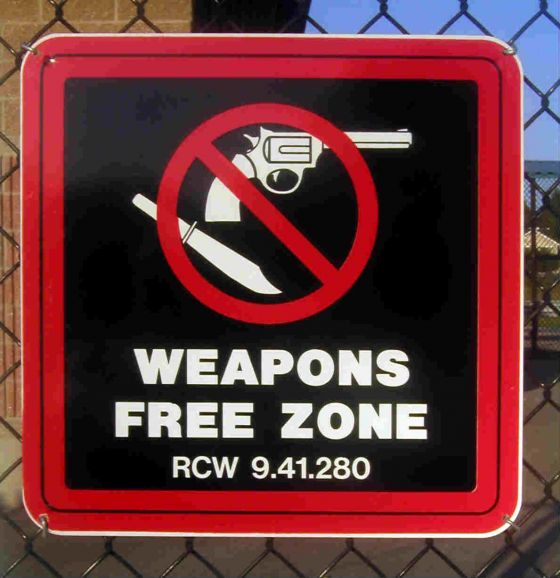 Weapon free zone
