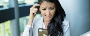 Woman is confused by her online banking statement