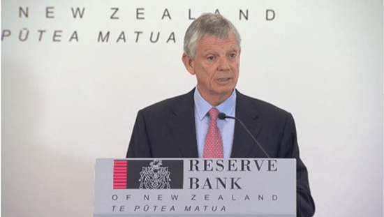 Reserve Bank Governor Graeme Wheeler addresses the media on 9 February