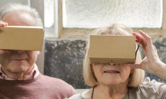 older couple with virtual reality