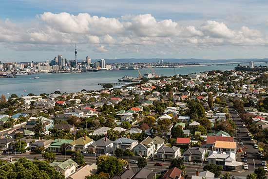 view of auckland houses