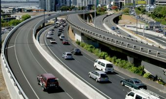 Driving in Auckland traffic