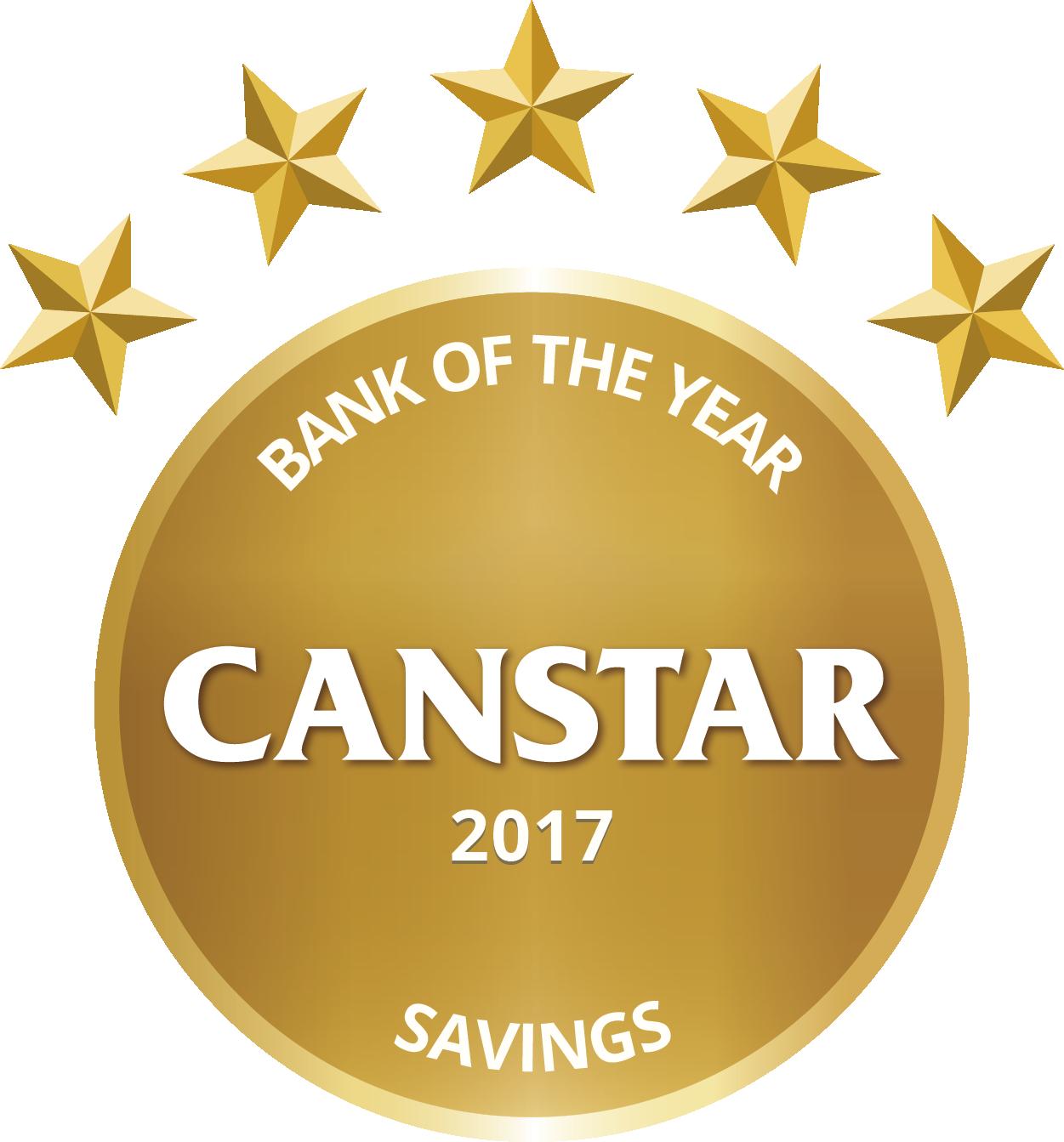 Canstar 2017 - Bank of the Year - Savings