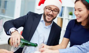 Christmas party celebrations at the office