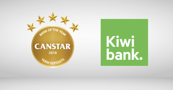 Kiwibank wins gold for term deposits