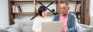 elderly couple considering reverse mortgage