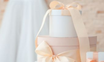 neatly wrapped wedding presents