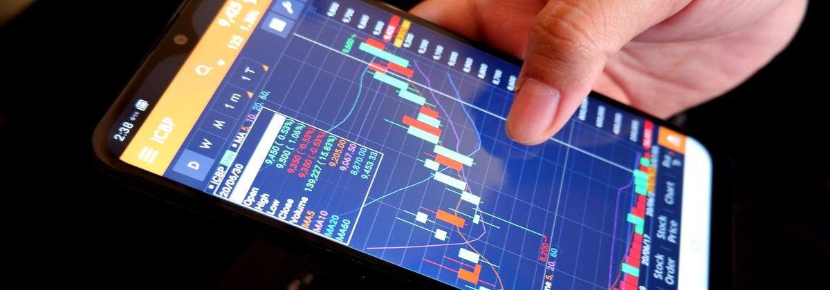 stocks on phone