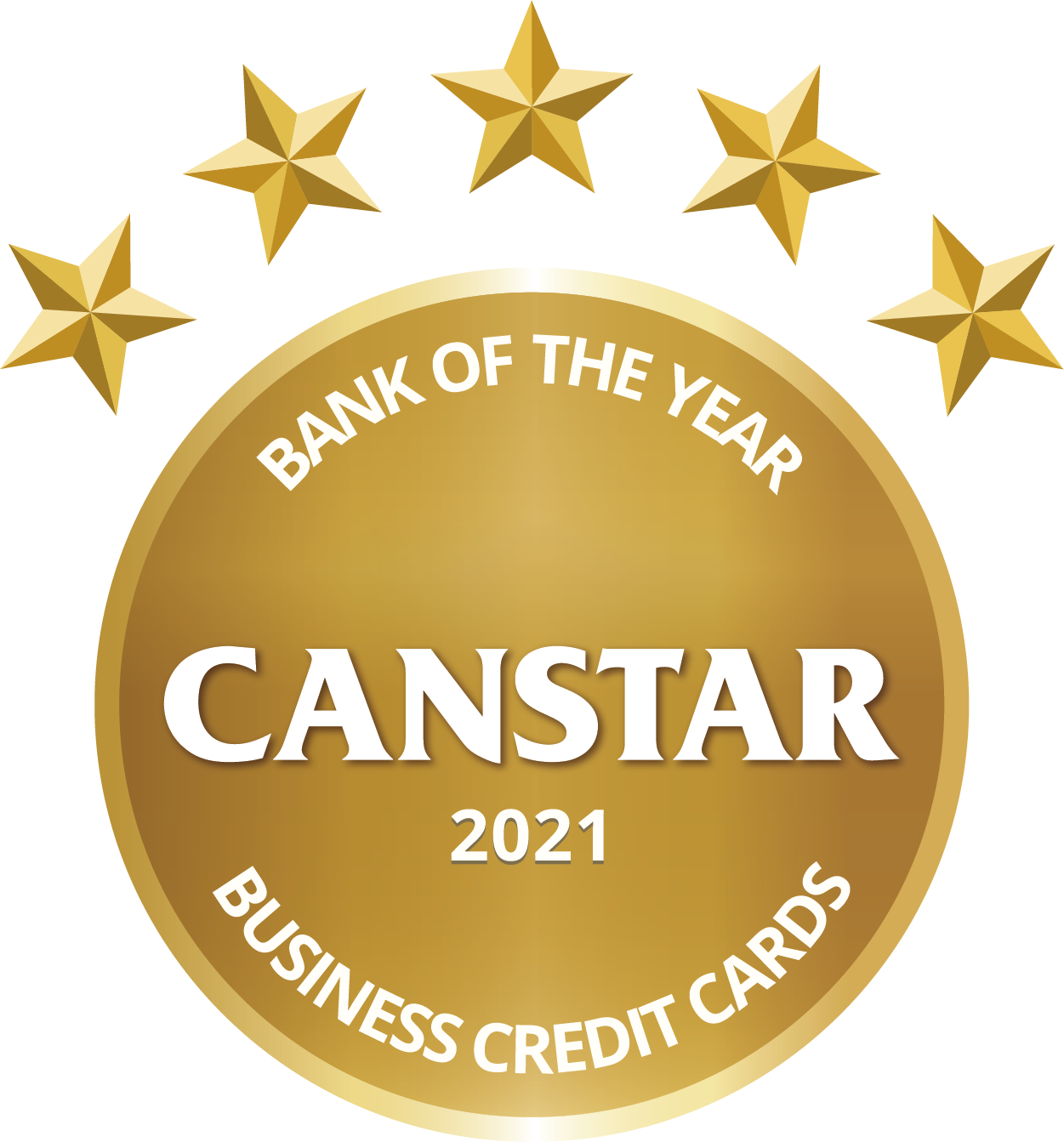 Bank of the year business credit card award logo