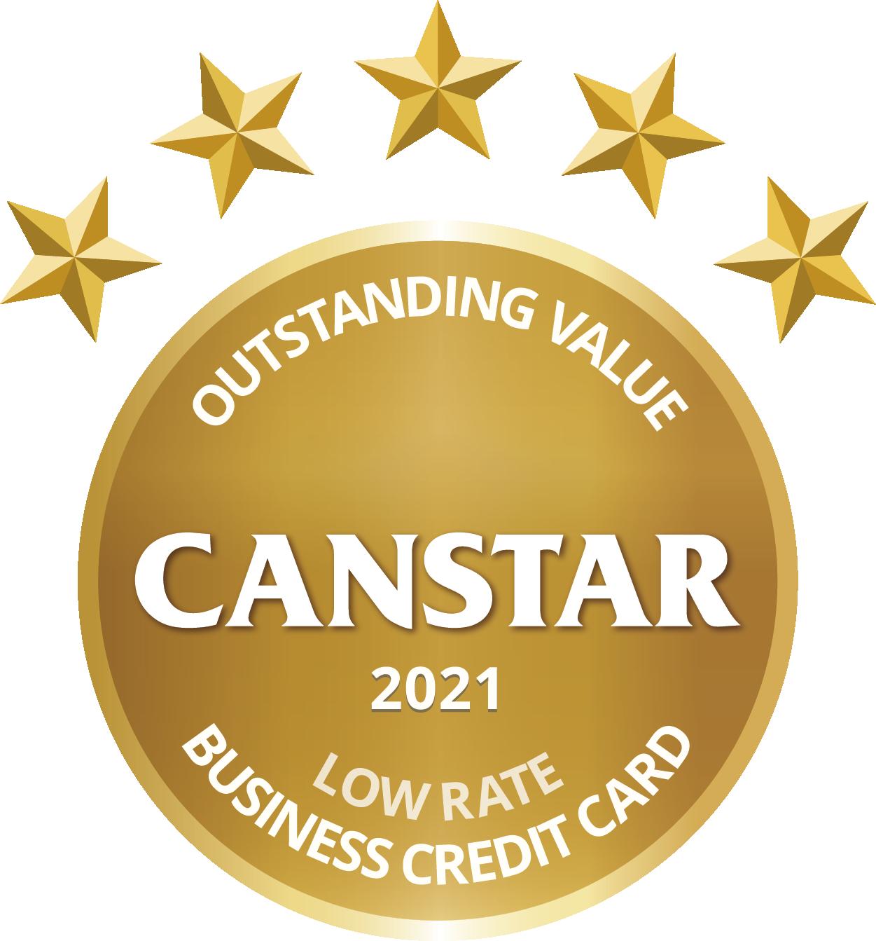 low rate business credit card award logo