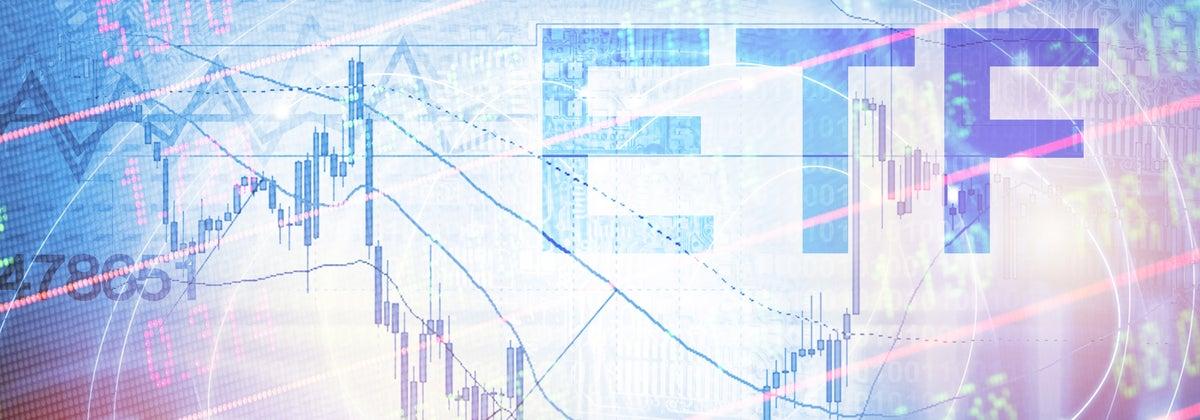 ETF stock market investment logo
