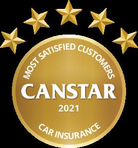 most satisfied customers car insurance award logo