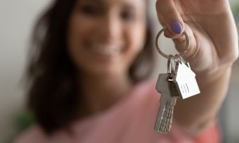 First home buyer holding bunch of keys